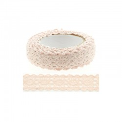 Adhesive Lace tape - 15mm x 2m pink