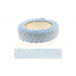 Adhesive Lace tape - 15mm x 2m blue