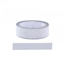 Adhesive glitter tape - 15mm x4m silver