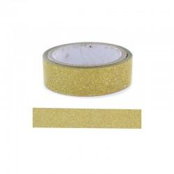 Adhesive glitter tape - 15mm x4m gold