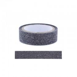 Adhesive glitter tape - 15mm x4m black