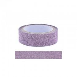 Adhesive glitter tape - 15mm x4m pink
