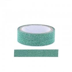 Adhesive glitter tape - 15mm x4m green