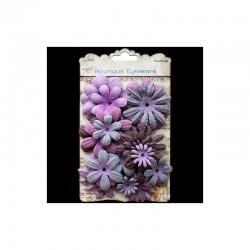 Assort. Paper Flowers Plum (30 pcs)