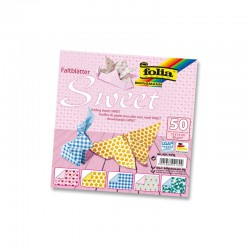 Origami paper 50 sheets 15x15cm ass. sweet
