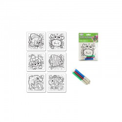 DIY' Color-Fun Puzzle w/Markers Marine pals - assorted pack