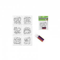 DIY' Color-Fun Puzzle w/Markers Dinosaure pals - assorted pack