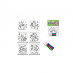DIY' Color-Fun Puzzle w/Markers Princess pals - assorted pack