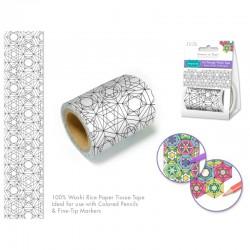 Washi tape à colorier 5cmx3m - Abstraction géométrique