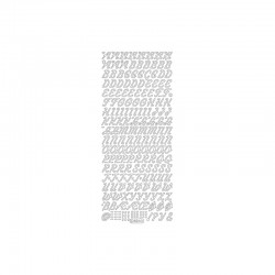 Peel'Off silver letters 1pc