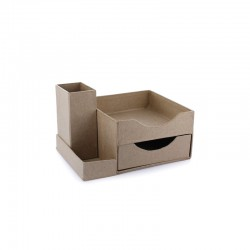 Desk pen + memo box 14.3x10.7x8.8cm