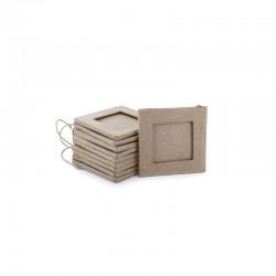Small frame w/string square 80x80mm x10pcs