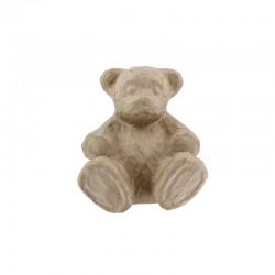 Hairy teddy bear 18x15,5x10cm