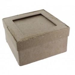 Set 10 mini box square with frame 80x80x40mm