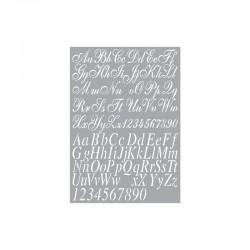 Stencil Art - Alphabet 2 A4