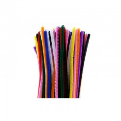 Chenilles 6mm 30cm, 100pcs assorted