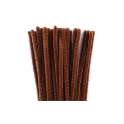Chenilles 6mm 30cm, 50pcs brown