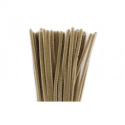Chenilles 6mm 30cm, 50pcs light brown