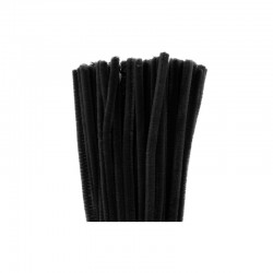 Chenilles 6mm 30cm, 50pcs black