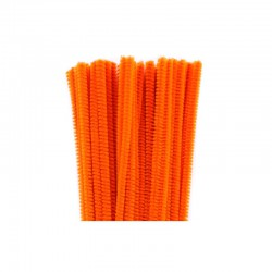 Chenilles 6mm 30cm, 50pcs orange