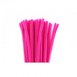 Chenilles 6mm 30cm, 50pcs hot ^pink