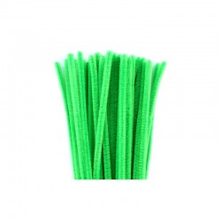 Chenilles 6mm 30cm, 50pcs light green