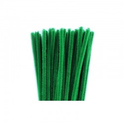 Chenilles 6mm 30cm, 50pcs green