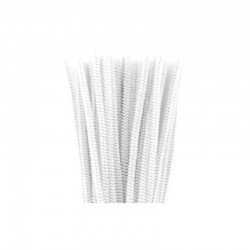 Chenilles 6mm 30cm, 50pcs white