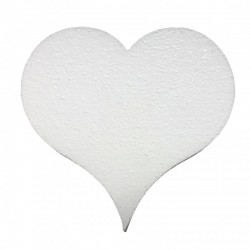 Polystyrene 2D heart  15 cm 5pieces