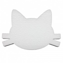 Polystyrene 2D kitty 15cm 5pieces