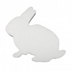 Polystyrene 2D rabbit 15cm 5pieces
