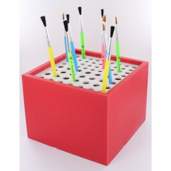 Square Plastic Brush Organiser 133x133x100mm