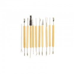 Set of 11 modelling/sculpting tools