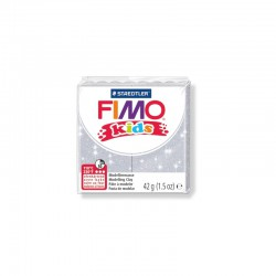 Fimo Kids 42g Glitter silver