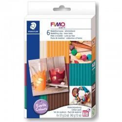 Fimo Soft Set 6 x 57g Earth Colours