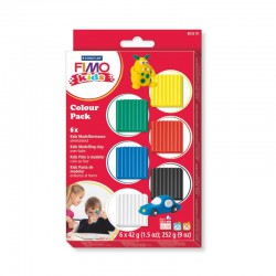 Fimo kids Colour pack basic (6x42gr)