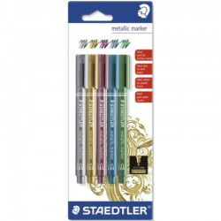 Metallic Marker gold - silver - red - blue - green