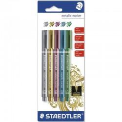 Metallic Marker gold - silver - red - blue - green