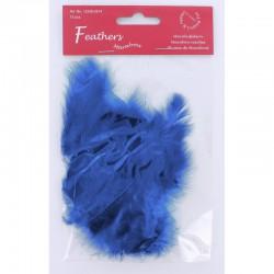 Marabou Feathers, Cobalt blue, 15 pcs/header bag