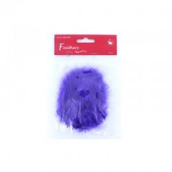 Marabou Feathers, Purple, 15 pcs/header bag