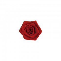 Ribbon rose 15mm 100pcs red