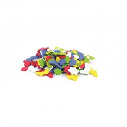 Foam shapes - bag 200pcs - flowers & butterflies