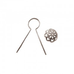Pack of 50 hooks for Xmas balls, silver