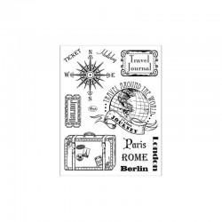 Clear stamps set Paris-Rome-Berlin