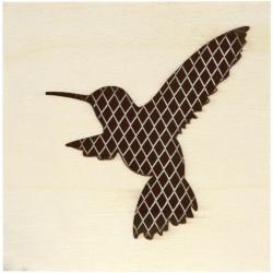 HUMMING-BIRD BOX W/ FENCE 80x80x75