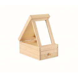 Wooden dressing box with mirror 120mm x 180mm x 85mm
