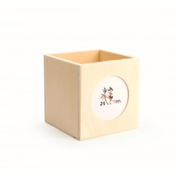 Pencil holder with photo 100mm x 100mm x 100mm