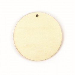 Plywood circle to decorate 120mm x 120mm x 4mm