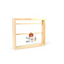 Pinewood jewelry stand with 2 bars 300mm x 250mm x 41mm