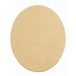 SET OF 2 OVAL TABLE PLACINGS 400X330X3mm